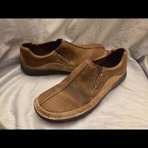 Men's Merrell Zen Peat Moss brown loafers shoes 9